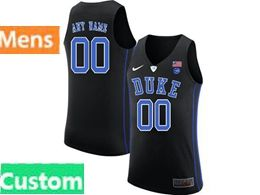 Mens Ncaa Nba Duke Blue Devils Custom Made Black Nike Jersey