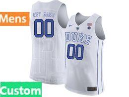 Mens Ncaa Nba Duke Blue Devils Custom Made White Nike Jersey