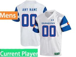 Mens Ncaa Colorado State Rams Current Player White Under Armour State Pride Football Jersey