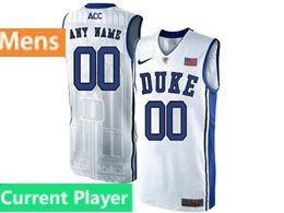 Mens Ncaa Nba Duke Blue Devils Current Player White Nike Acc Elite Jersey