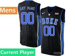 Mens Ncaa Nba Duke Blue Devils Current Player Black Nike Acc Elite Jersey