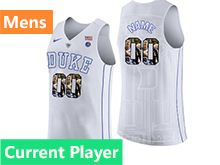 Mens Ncaa Nba Duke Blue Devils Current Player White Printed Nike Jersey