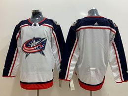 Mens Nhl Columbus Blue Jackets Black White Away Adidas Jersey