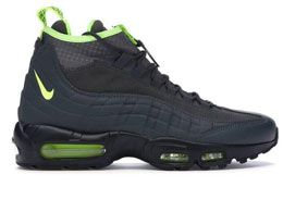 Mens Nike Air Max 95 Boot Color Black With Green