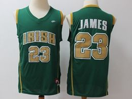 Mens Ncaa Nba Notre Dame Fighting Irish #23 Lebron James Green High School Edition Nike Jersey