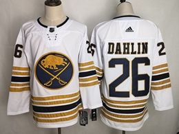 Mens Women Youth Nhl Buffalo Sabres 50th #26 Rasmus Dahlin White New Adidas Jersey