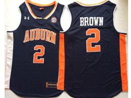 Mens Ncaa Nba Auburn Tigers #2 Brown Dark Blue Jersey