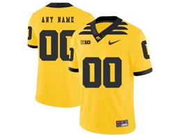 Mens 2019 New Ncaa Nfl Iowa Hawkeyes Current Player Yellow Game Jersey