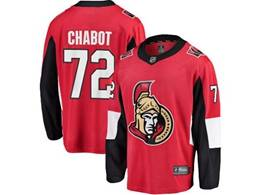 Mens Nhl Ottawa Senators #72 Thomas Chabot Red Breakaway Player Jersey