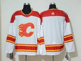 Mens Nhl Calgary Flames Blank White 2019 Heritage Classic Breakaway Adidas Player Jersey