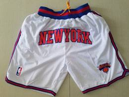 Mens Nba New York Knick White Nike Just Don Pocket Shorts