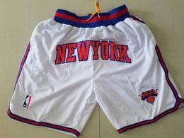 Mens Nba New York Knick White Nike Just Don Pocket Shorts