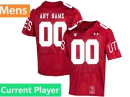 Mens 2019 Ncaa Nfl Utah Utes Current Player Red 150th Limited Jersey