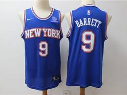 Mens New Season Nba New York Knicks #9 R.j. Barrett Blue Hardwood Classics Nike Swingman Jersey