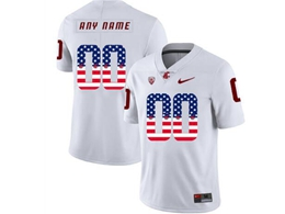 Mens Ncaa Washington State Cougars Current Player White Usa Flag Jersey