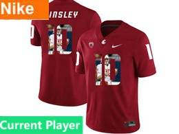 Mens Ncaa Washington State Cougars Current Player Red Fashion Jersey