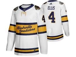 Mens Nhl Nashville Predators #4 Ryan Ellis White 2019 Winter Classic Adidas Jersey