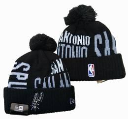 Mens Nba San Antonio Spurs Black&white New Sport Knit Hats One Color