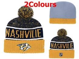 Mens Nhl Nashville Predators Yellow&black Sport Knit Hats 2 Colors