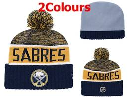 Mens Nhl Buffalo Sabres Blue&yellow&white Sport Knit Hats 2 Colors