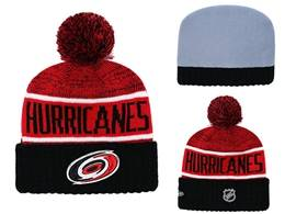 Mens Nhl Carolina Hurricanes Red&black Sport Knit Hats