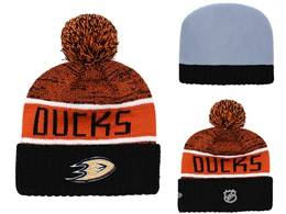 Mens Nhl Anaheim Mighty Ducks Orange&black Sport Knit Hats