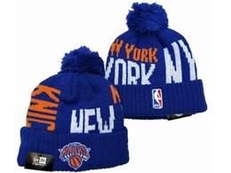 Mens Nba New York Knicks Blue&white Sport Knit Hats
