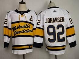 Mens Nhl Nashville Predators #92 Ryan Johansen White 2019 Winter Classic Adidas Jersey