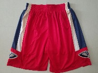 Mens Nba New Orleans Hornets Nike Red Shorts