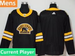 Mens Nhl Boston Bruins Black Current Player 3rd Inverted Legend Adidas Jersey