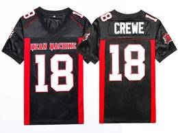 Mens Nfl #18 Paul Crewe Mean Machine Longest Yard Movie Stitched Blue Football Jersey