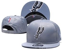 Mens Nba San Antonio Spurs Gray Snapback Adjustable Hats