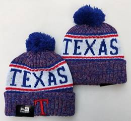 Mens Mlb Texas Rangers Blue&white&red New Sport Knit Hats