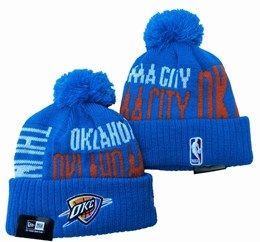Mens Nba Oklahoma City Thunder Blue&red&white Sport Knit Hats