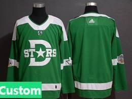 Mens Adidas Dallas Stars Custom Made Green 2019 Winter Classic Adidas Jersey