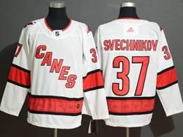 Mens Nhl Carolina Hurricanes #37 Andrei Svechnikov White Away Breakaway Player Jersey