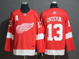 Mens Nhl Detroit Red Wings #13 Pavel Datsyuk Red Adidas Jersey