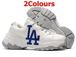 Mens And Women Mlb Los Angeles Dodgers Big Ball Chunky P Running White Shoes