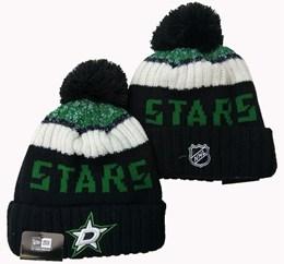 Mens Nhl Dallas Stars Black&white&green Sport Knit Hats