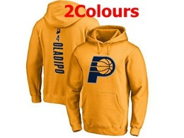 Mens Nba Indiana Pacers #4 Victor Oladipo Hoodie Jersey With Pocket 2 Colors