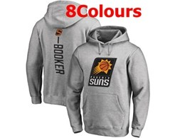 Mens Nba Phoenix Suns #1 Devin Booker Hoodie Jersey With Pocket 8 Colors
