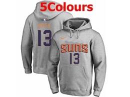 Mens Nba Phoenix Suns #13 Steve Nash Hoodie Jersey With Pocket 5 Colors