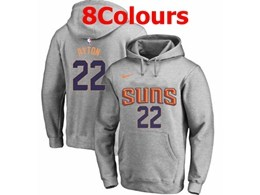 Mens Nba Phoenix Suns #22 Deandre Ayton Hoodie Jersey With Pocket 8 Colors
