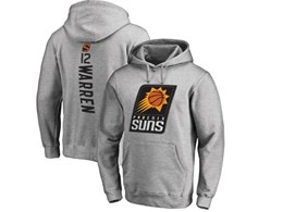 Mens Nba Phoenix Suns #12 Warren Gray Hoodie Jersey With Pocket