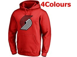 Mens Nba Portland Trail Blazers Blank Hoodie Jersey With Pocket 4 Colors