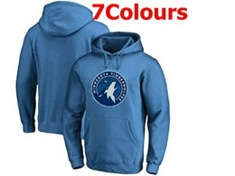 Mens Nba Minnesota Timberwolves Blank Hoodie Jersey With Pocket 7 Colors