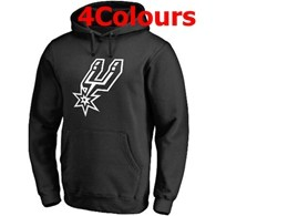 Mens Nba San Antonio Spurs Blank Hoodie Jersey With Pocket 4 Colors