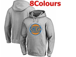 Mens Nba New York Knicks Blank Hoodie Jersey With Pocket 8 Colors