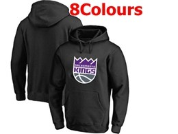 Mens Nba Sacramento Kings Blank Hoodie Jersey With Pocket 8 Colors