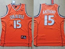 Mens Ncaa Nba Syracuse #15 Anthony Orange Nike Jersey